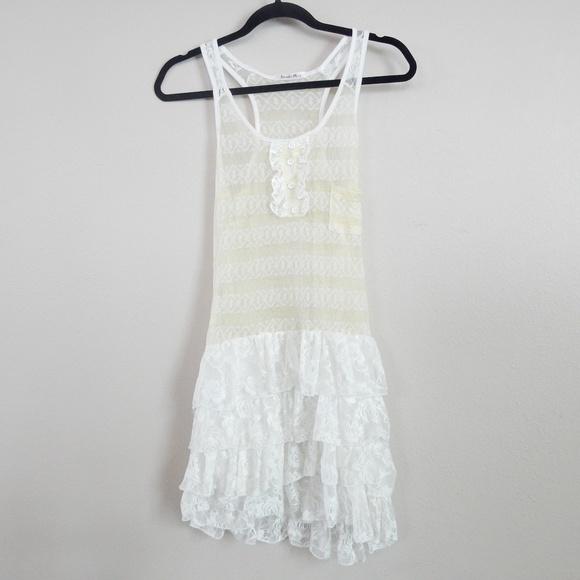 Paradis Miss Tops - Unique NWOT lace top. mini dress by Paradis Miss